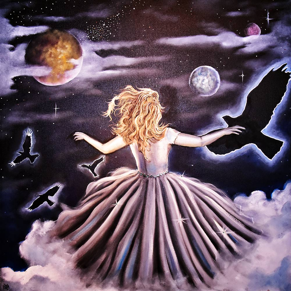 "'Cloud Dancer' - Oil and acrylic on canvas - 36"" x 36"""