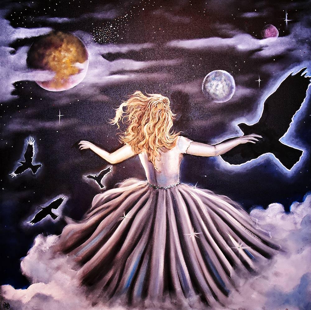 "'Cloud Dancer' - Oil and acrylic on canvas - 36"" x 36"""